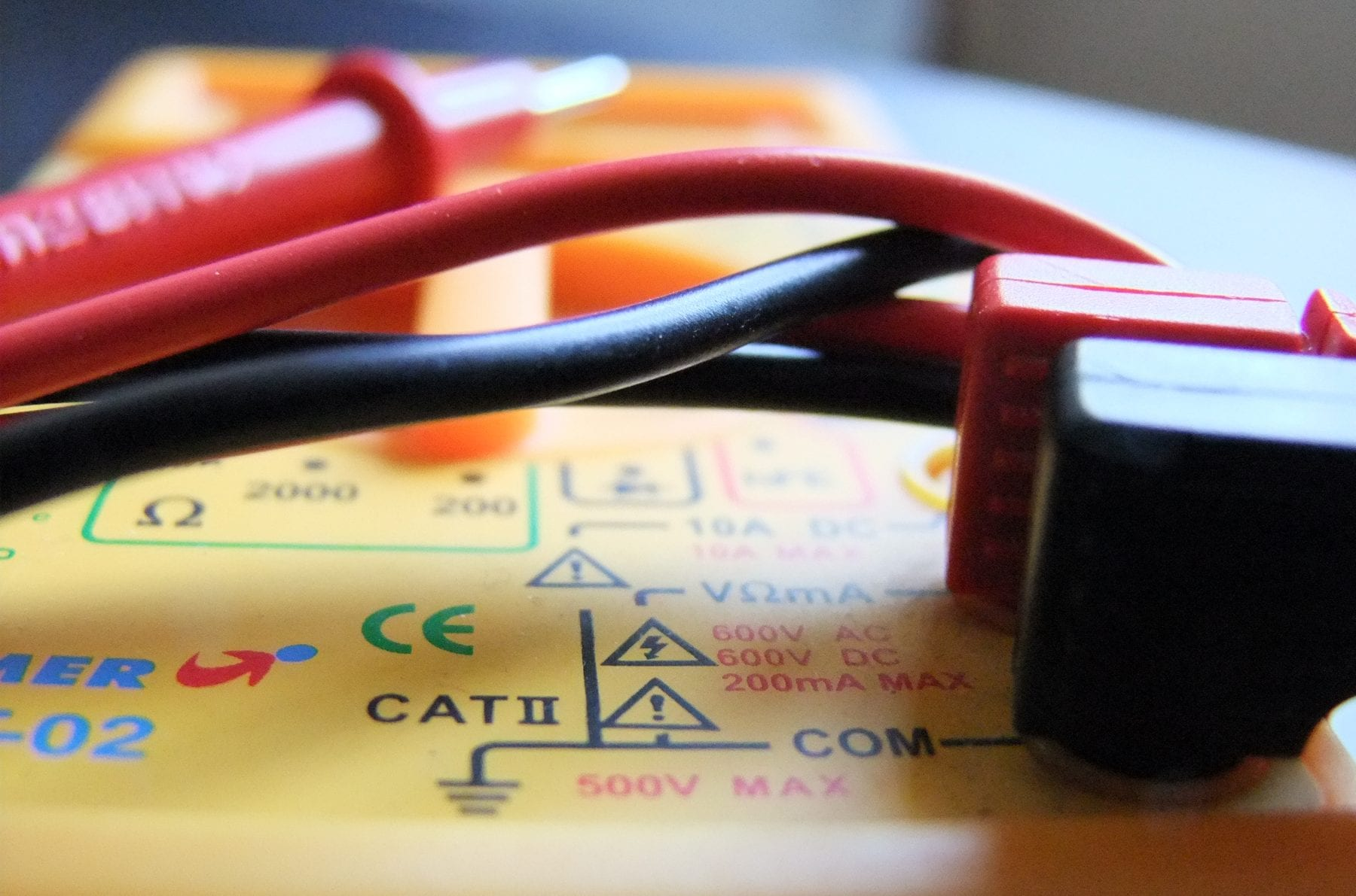 symbols on a multimeter
