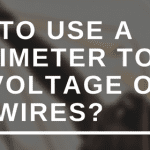 How to use a multimeter to test the voltage of live wires