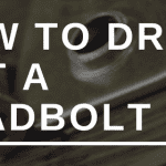 How to drill out a deadbolt