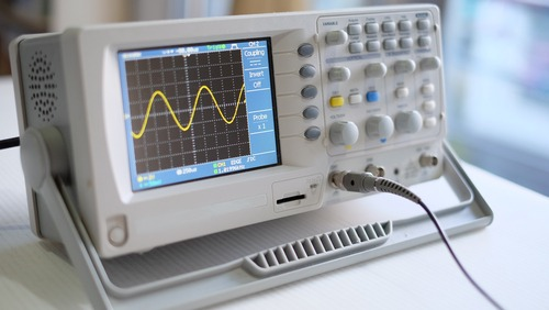 Oscilloscope front panel