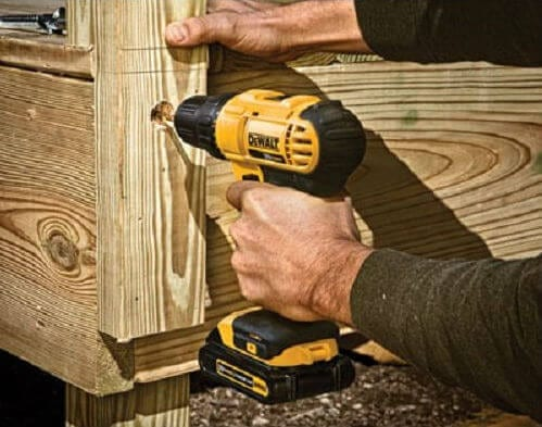 working with Dewalt dcd771c2