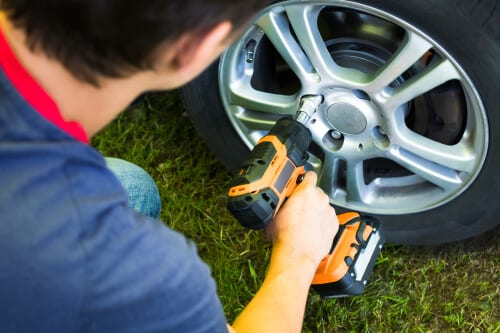 Cordless Impact Wrench for Changing Tires